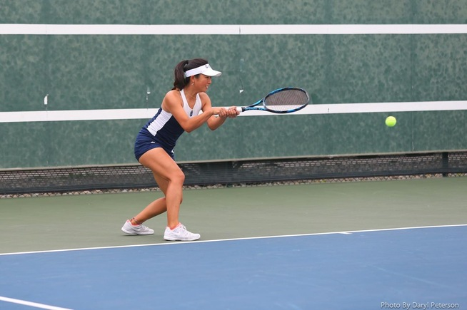 File Photo: Lisa Suzuki helped the Falcons shut out Riverside with a straight sets singles win