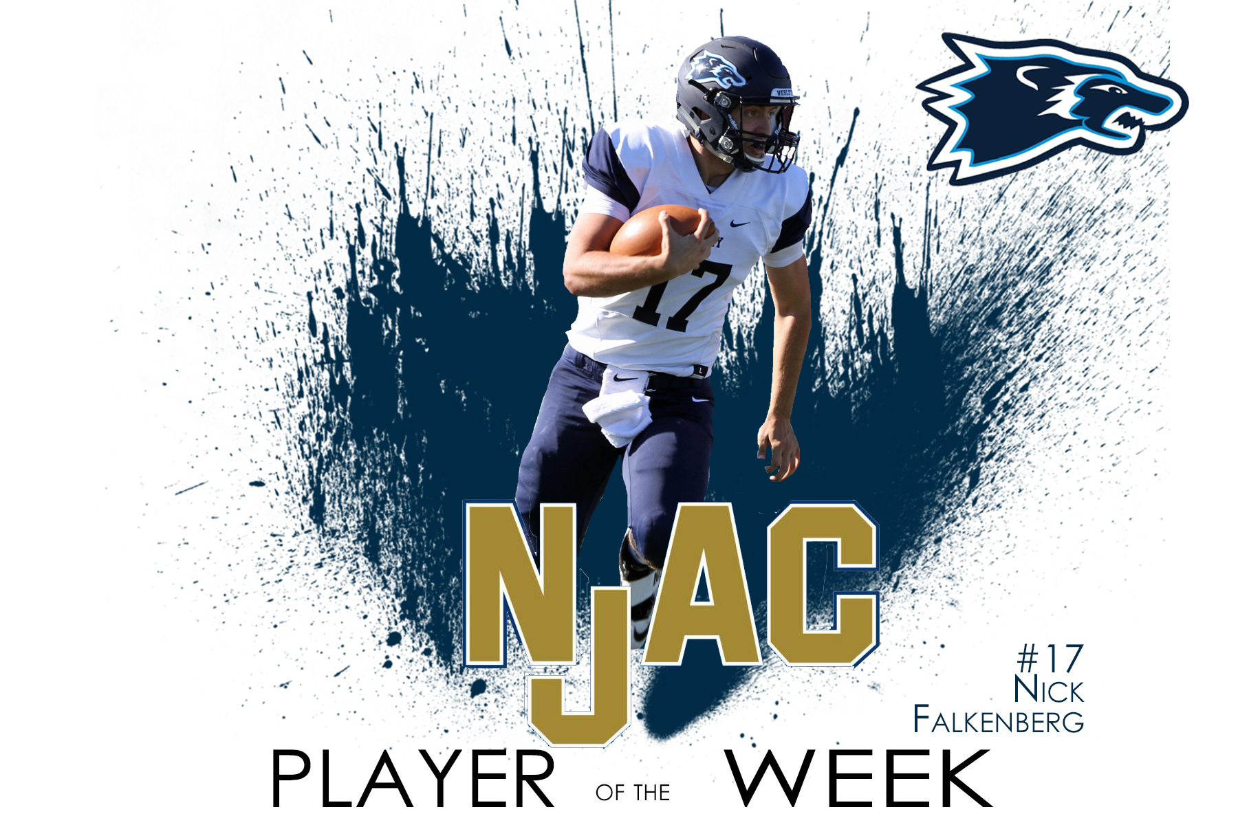 After Career Day, Falkenberg Named NJAC Player of the Week