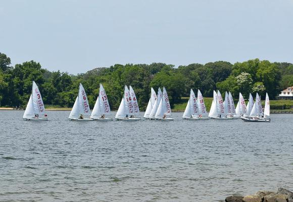 Light Wind on Day One of Gill Coed National Championship First Round