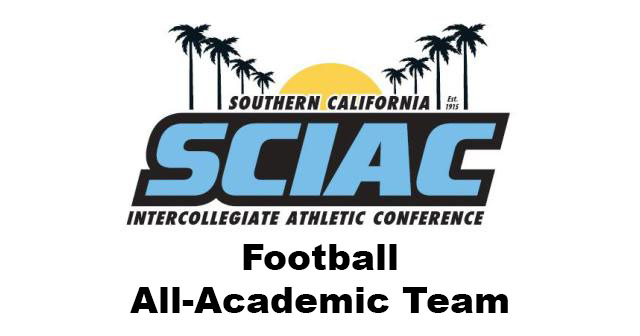 SCIAC Proudly Announces Football All-Academic Team