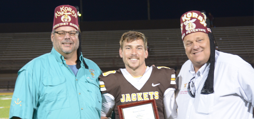 Senior quarterback Jake Hudson was named 41st Lee Tressel Shrine Classic Player of the Game