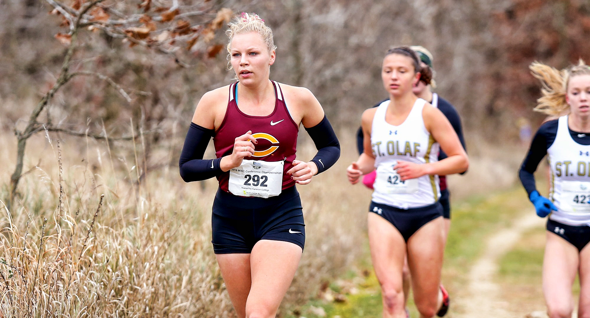 Senior Kara Andersen posted her second straight Top 30 finish at the NCAA Central Region Meet and earned All-Regions for the second consecutive year. (Photo by Nathan Lodermeier)
