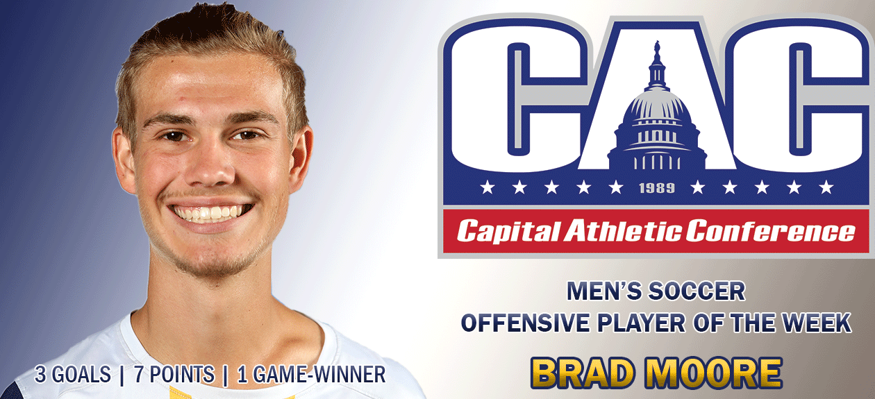 Moore Named CAC Offensive Player of the Week