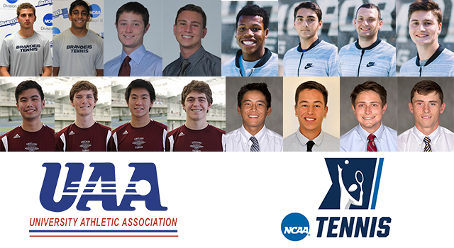 Seven UAA Singles Players and Five Doubles Teams Receive Bids to NCAA Division III Men's Tennis Championships