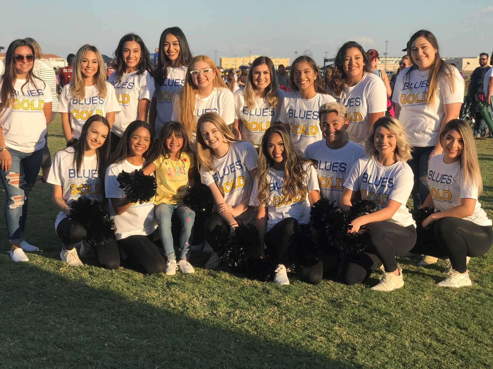 OC Blues Dance Team partners with Odessa YMCA Football & Cheerleading Kickoff