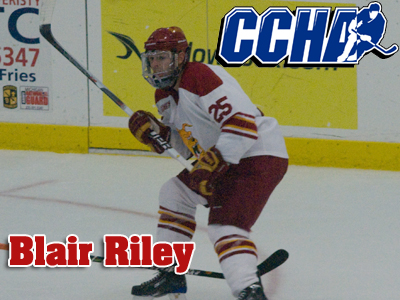 Blair Riley Tapped As CCHA Offensive Player Of The Week