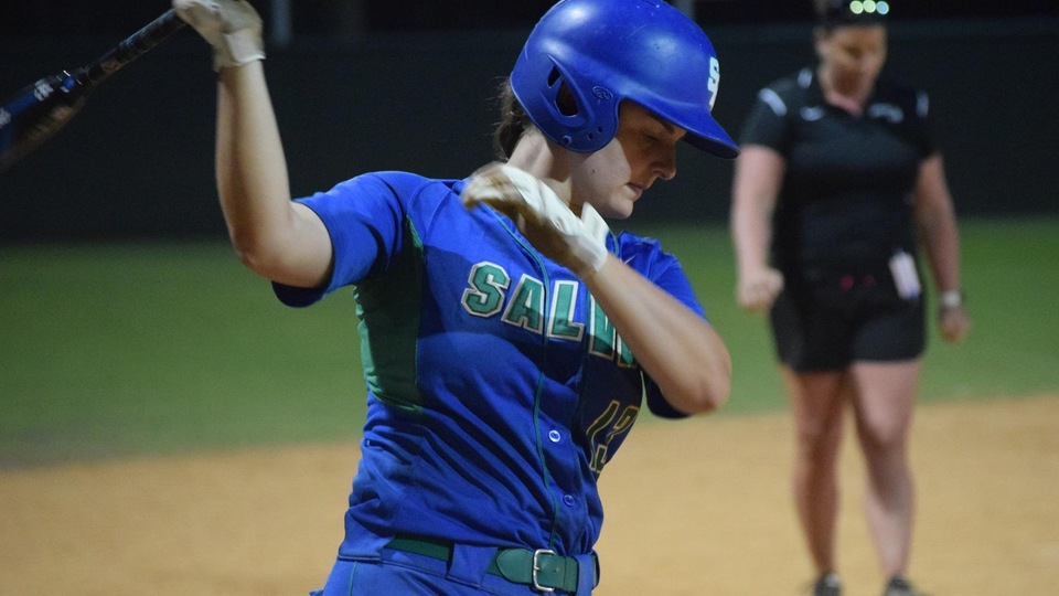 Salve Regina senior shortstop had three hits including a double and four runs scored during Friday's 10-2 win against Juniata. (Photo by Ed Habershaw)