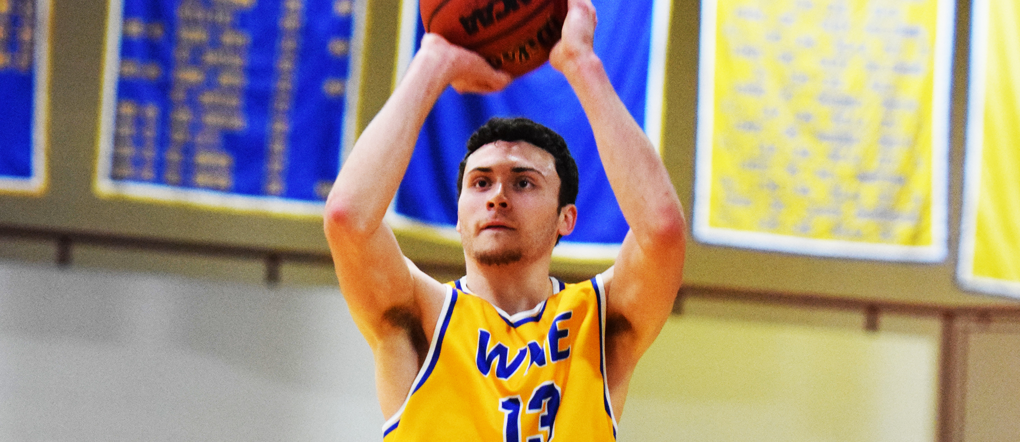 Freshman Alex Sikorski scored 16 points off the bench in Western New England's 91-79 win over Dean on Thursday. (Photo by Rachael Margossian)