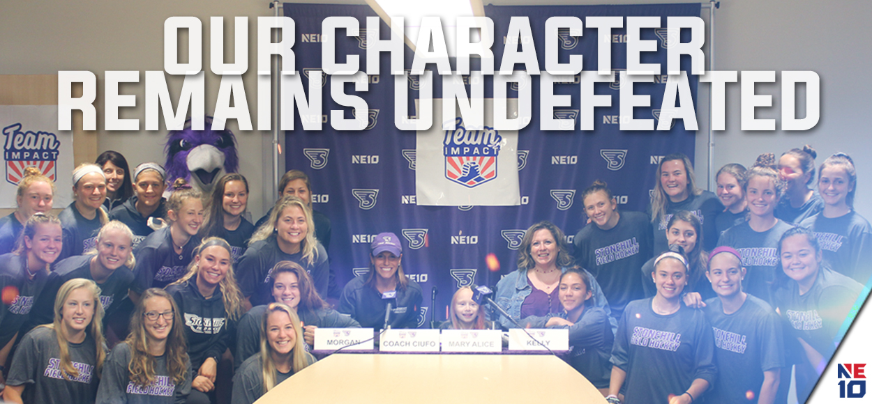 Embrace The Impact: Mary Alice Joins Stonehill Field Hockey through Team IMPACT