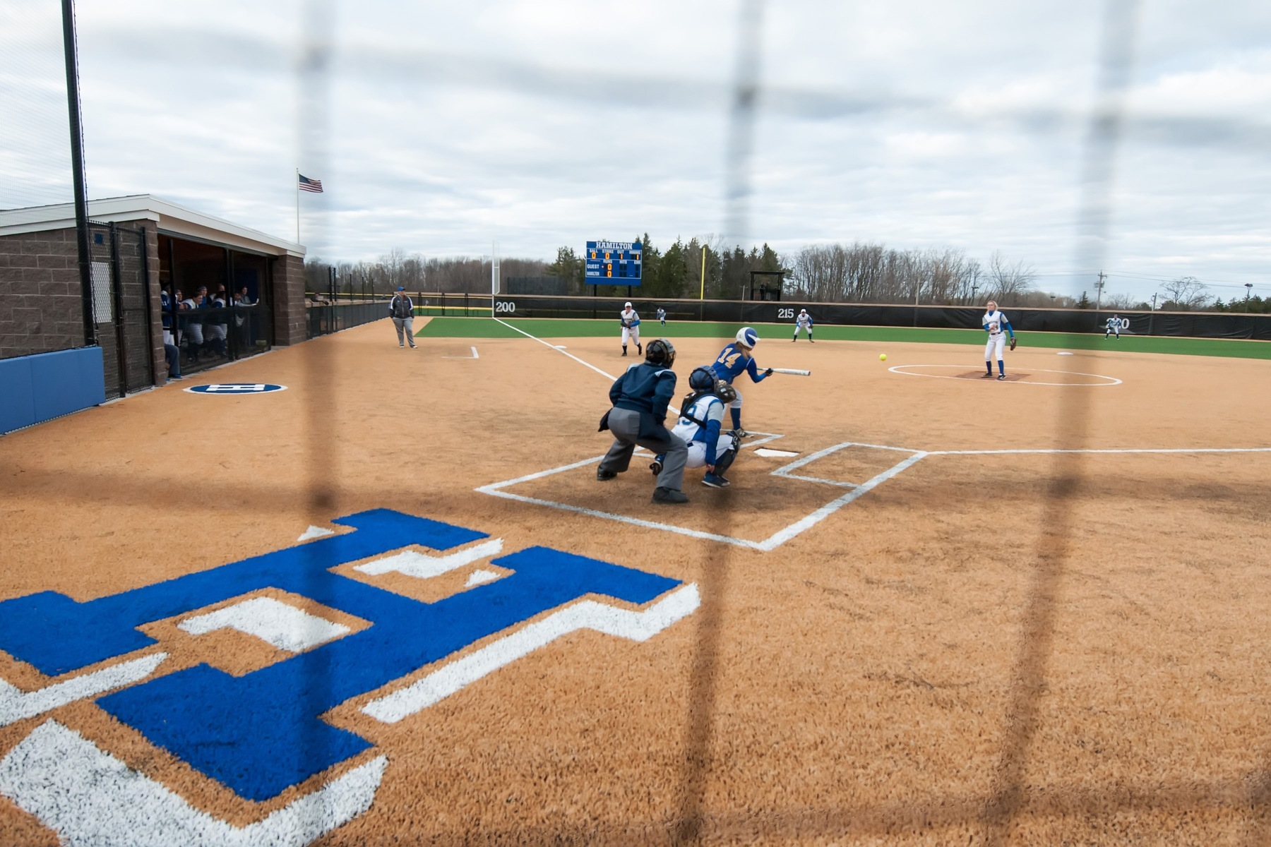 Hamilton plays its first softball games at the Loop Road Softball/Baseball Complex (Michael P. Doherty photo).