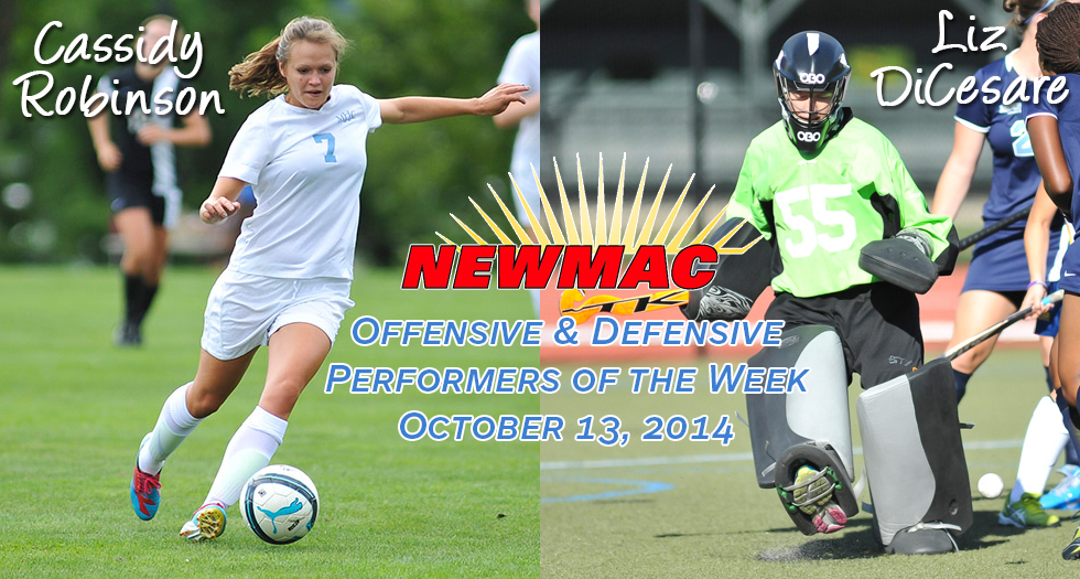 Robinson & DiCesare Earn NEWMAC Weekly Honors