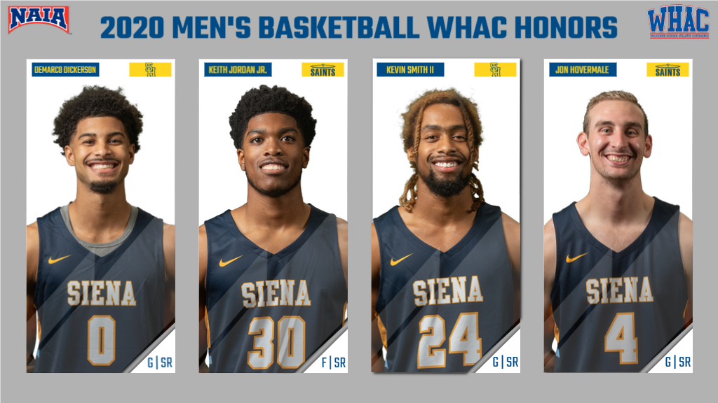 Four Saints Earn WHAC Men's Basketball Honors