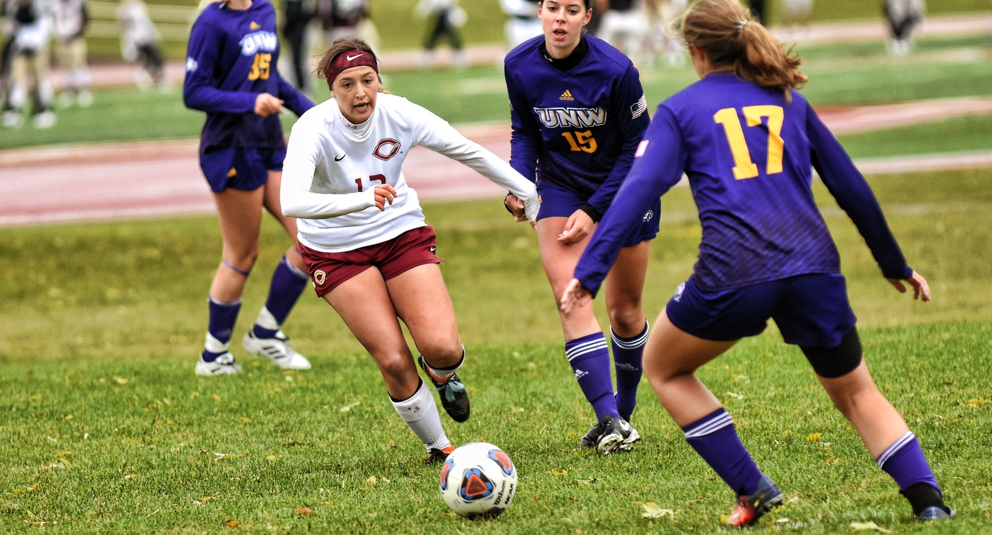 Kalli Baarstad goes after the ball in the second half of the Cobbers' 1-1 2OT tie with Northwestern. She scored the lone goal of the game for CC in the eighth minute of play.