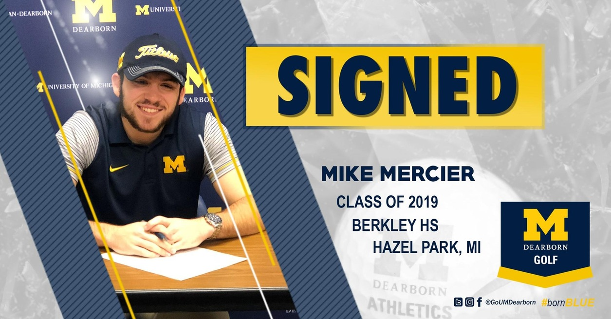 Mike Mercier Signs with Men's Golf Class of 2019