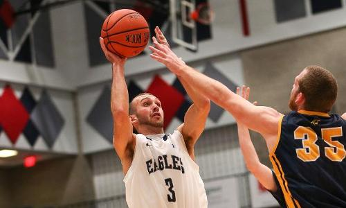 Riester's Three Sinks #9 St. Mary's, 66-64, in CAC Thriller for UMW Men's Basketball