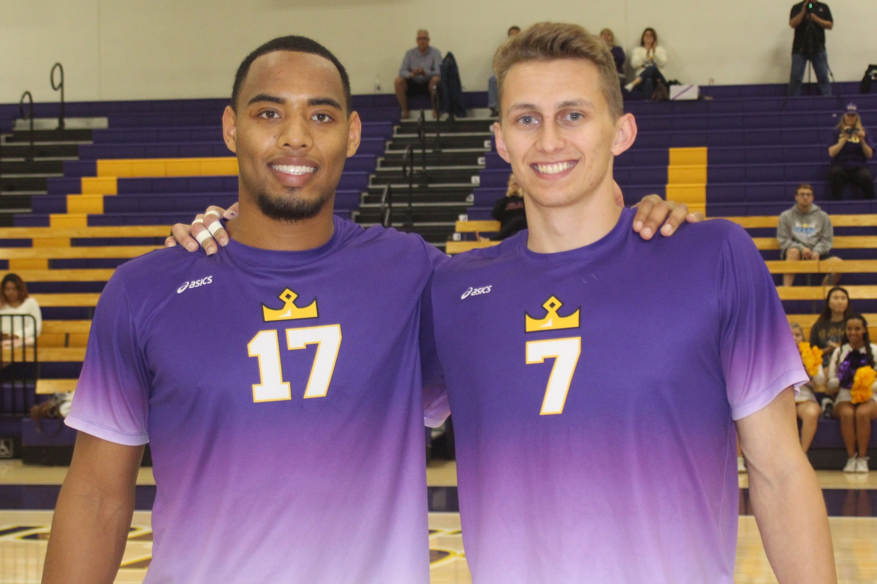 Dasmen Stewart and Brendan Ward were honored on Senior Night. The Kingsmen then defeated the Moorpark Raiders 3-0.