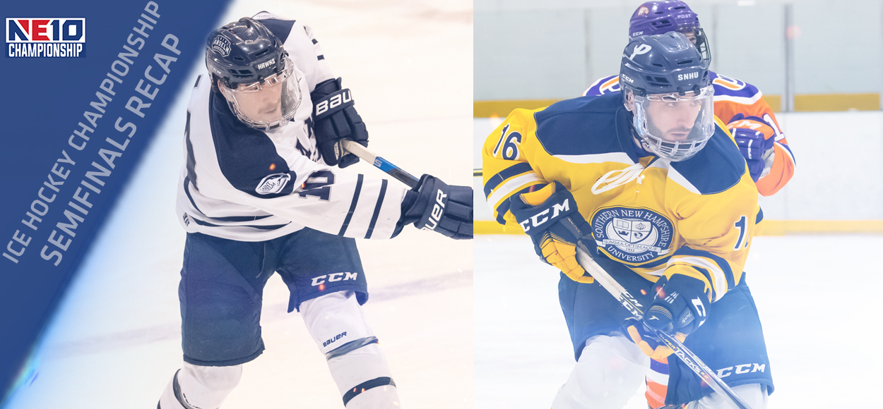 Embrace the Victory: Top Seeds Advance to NE10 Ice Hockey Championship Game