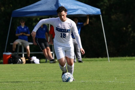 New Jersey men's soccer team rallies from late one goal deficit to top Albany College of Pharmacy 4-3 in thrilling match Thursday evening