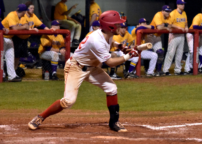 Wes Powell had three hits in Friday night's 12-inning loss at Piedmont.