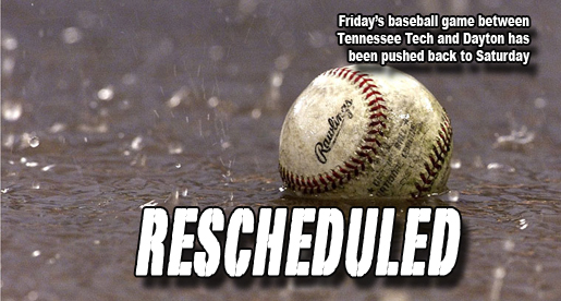 Friday's TTU baseball game rescheduled for Saturday