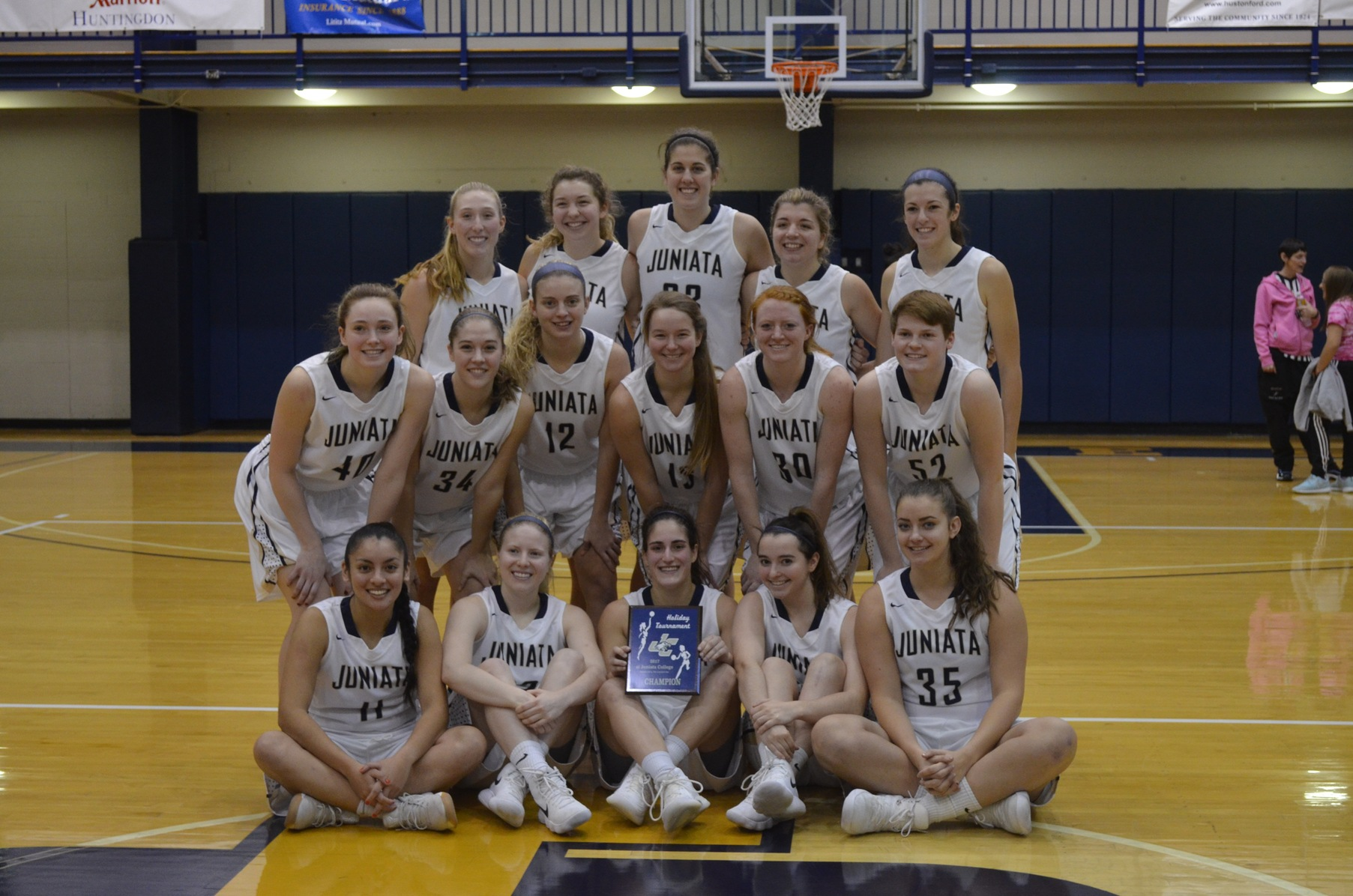 The Juanita women's basketball team after winning their 12th Annual Holiday Tournament. (Photo by Amanda Gretz)