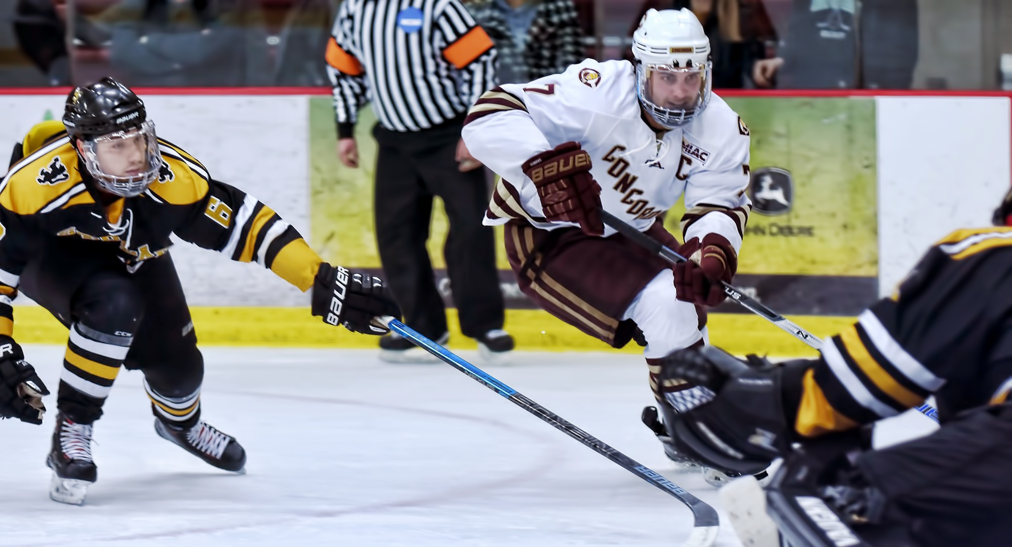Senior Joe Burgmeier had the game-winning goal in the Cobbers' series-sweeping 4-1 win at St. Olaf.