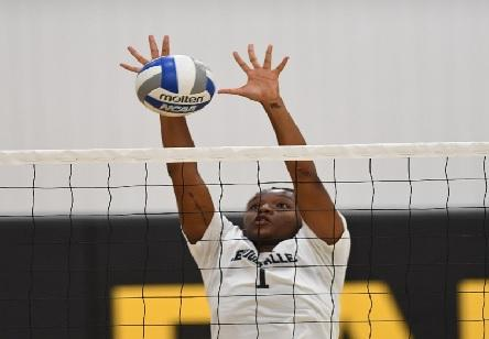 Women's Volleyball Drops Two At LCCC Tri-Match. Ebony Sanders led with 13 Kills