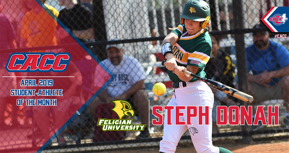 Felician Softball's Steph Donah Named CACC Student-Athlete of the Month for April 2019