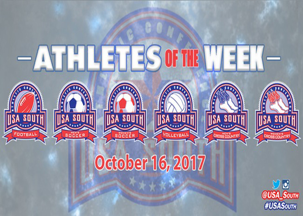 Three Hawks recognized as USA South Athletes of the Week