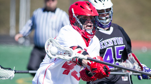 Ryan Spitzer was credited with two caused turnovers in the Tigers' 7-6 overtime loss to Kenyon. File Photo | Erin Pence