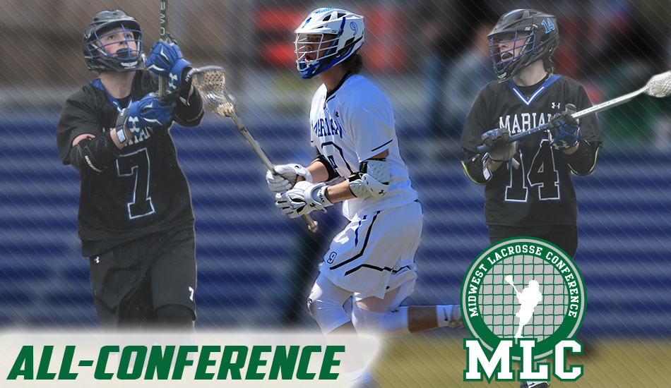 Marian Men's Lacrosse All-MLC graphic.