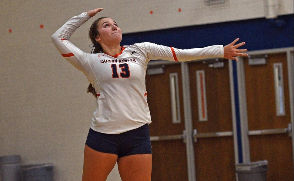 Oldenburger leads effective Eagles to sweep of Pioneers