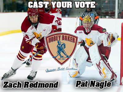 Pat Nagle and Zach Redmond Listed As Hobey Baker Award Candidates