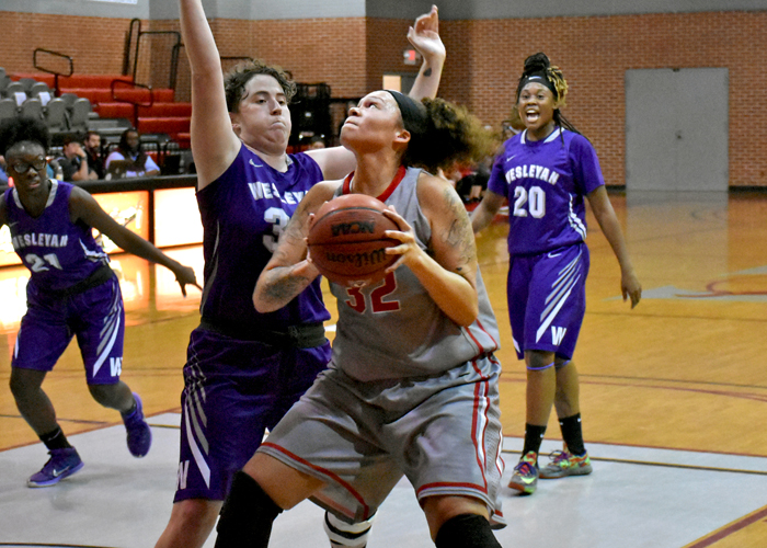 Juliette Harp scored a career-high 29 points and pulled down 14 rebounds in Saturday's win over Pensacola Christian.