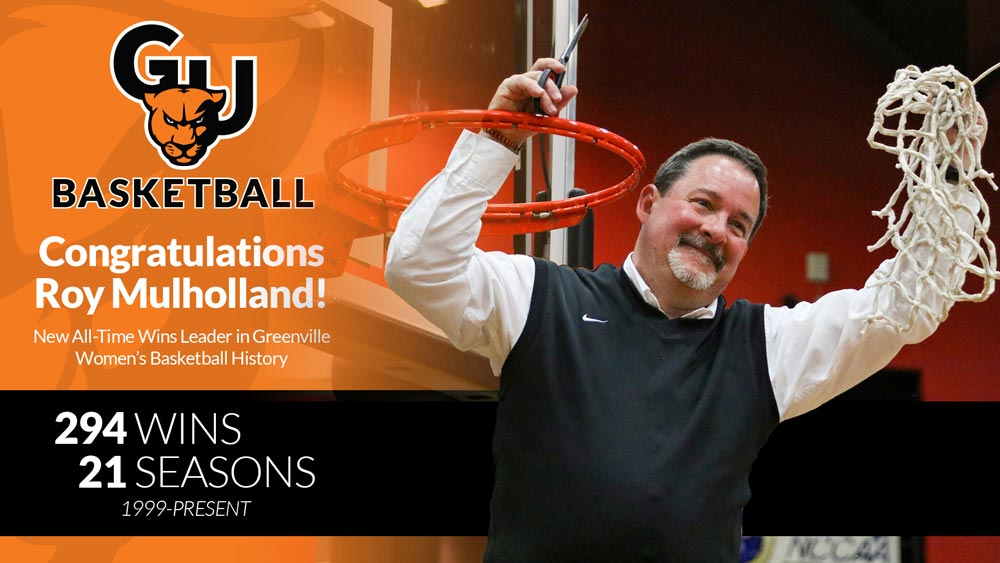 Women's basketball gives Coach Roy Mulholland record-setting win
