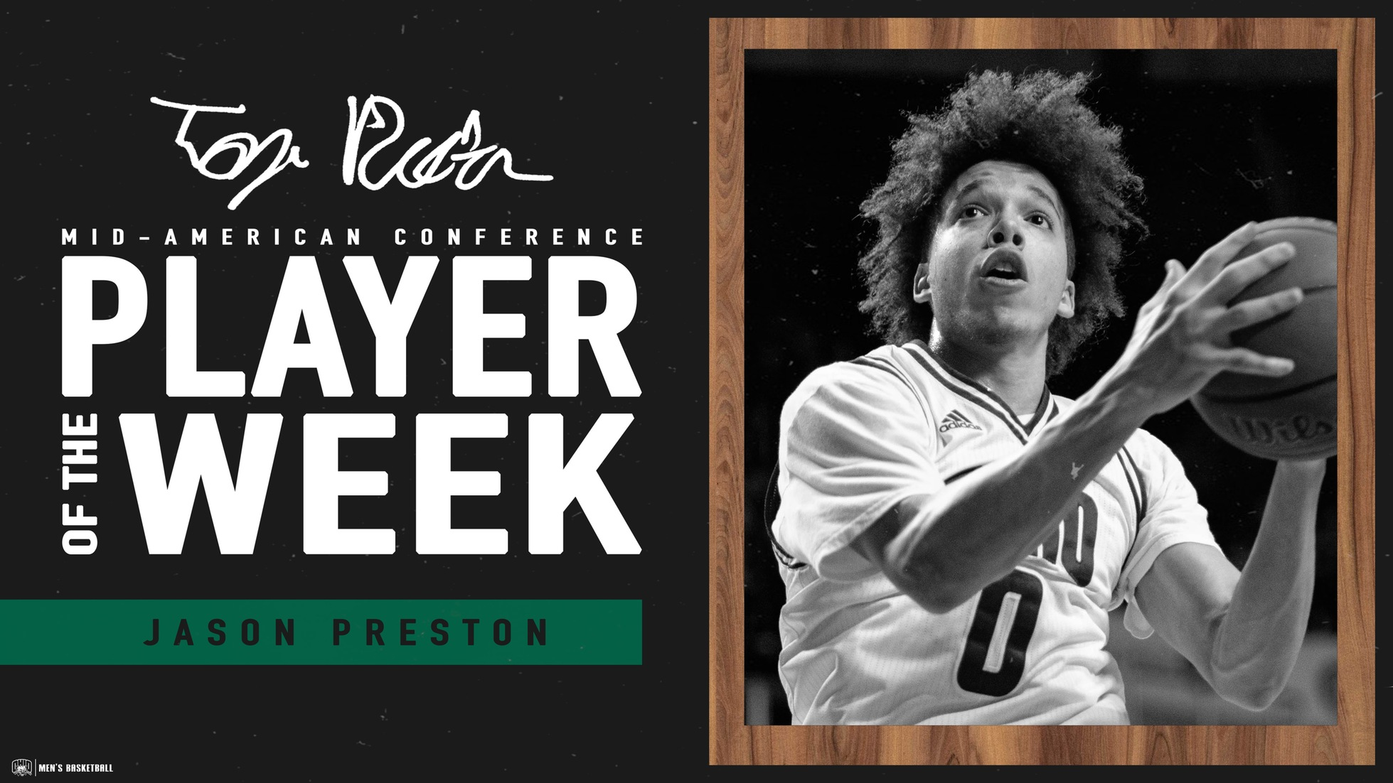 Preston Earns MAC Weekly Honor for the Fourth Time This Season