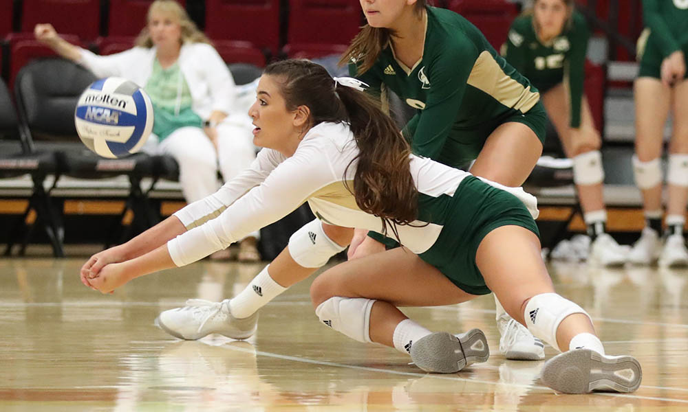 VOLLEYBALL FALLS ON THE ROAD TO SANTA CLARA