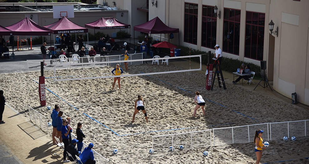 2019 marks the second season of beach volleyball matches being held on the Santa Clara campus.
