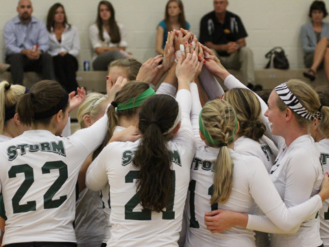 Block Party Helps Tiffin to Straight Set Win over Storm