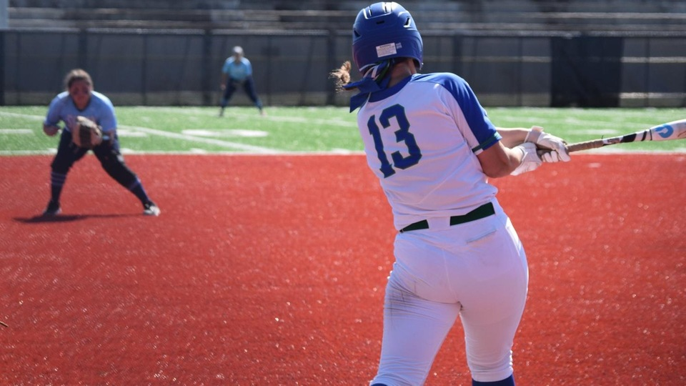 Amanda Riley totaled three triples and six runs batted in in a doubleheader sweep for the Seahawks over the Scots. (Photo by Jennie O'Connell)