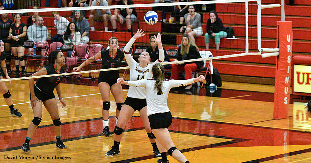 Volleyball Sweeps Wesley to Secure Split