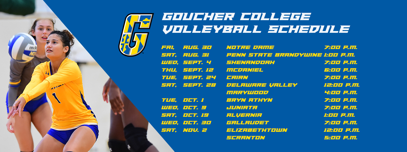 Goucher Volleyball Unveils 2019 Slate