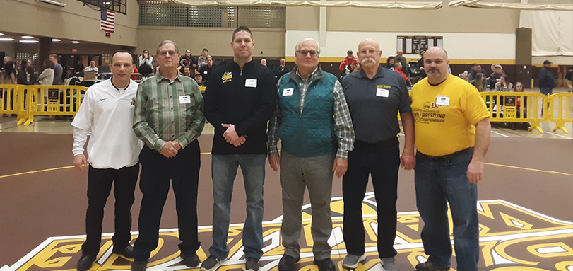 Former BW wrestlers were recognized in between matches for the BW Hall of Fame Wrestlers Day