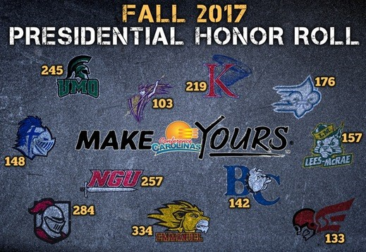 Conference Carolinas Announces the Fall 2017 Presidential Honor Roll