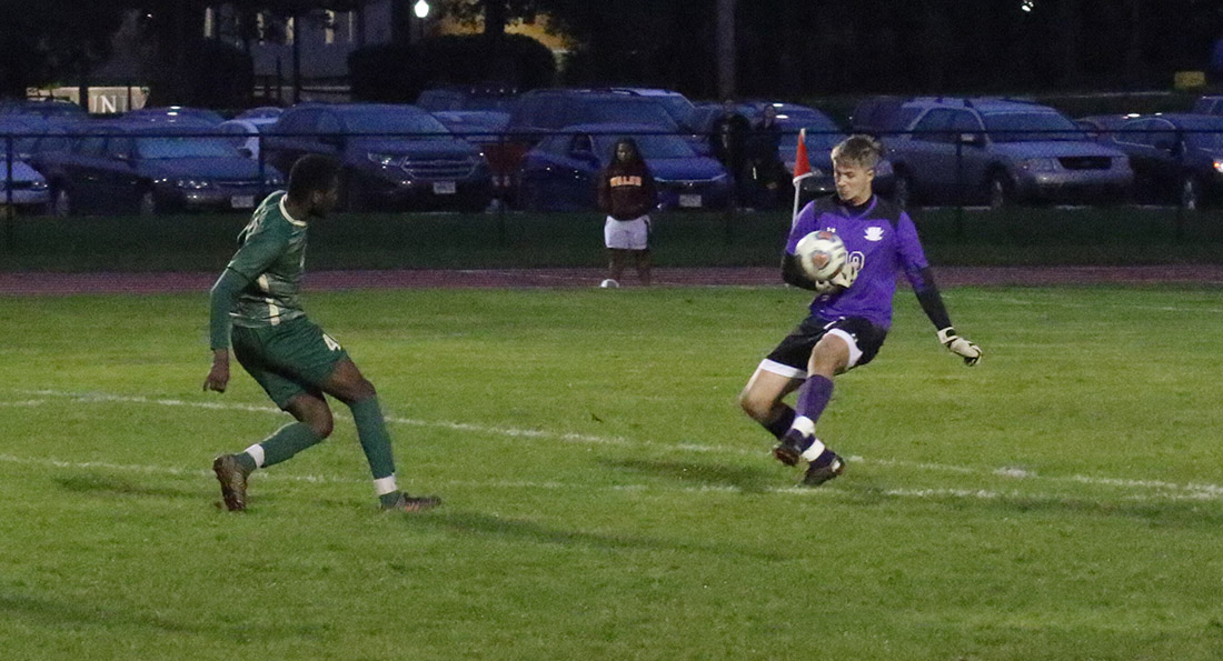 Ramiesh McKnight strikes the game winning goal in double overtime at Walsh.