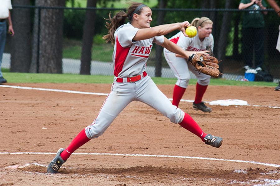 Huntingdon softball splits with conference rival Piedmont