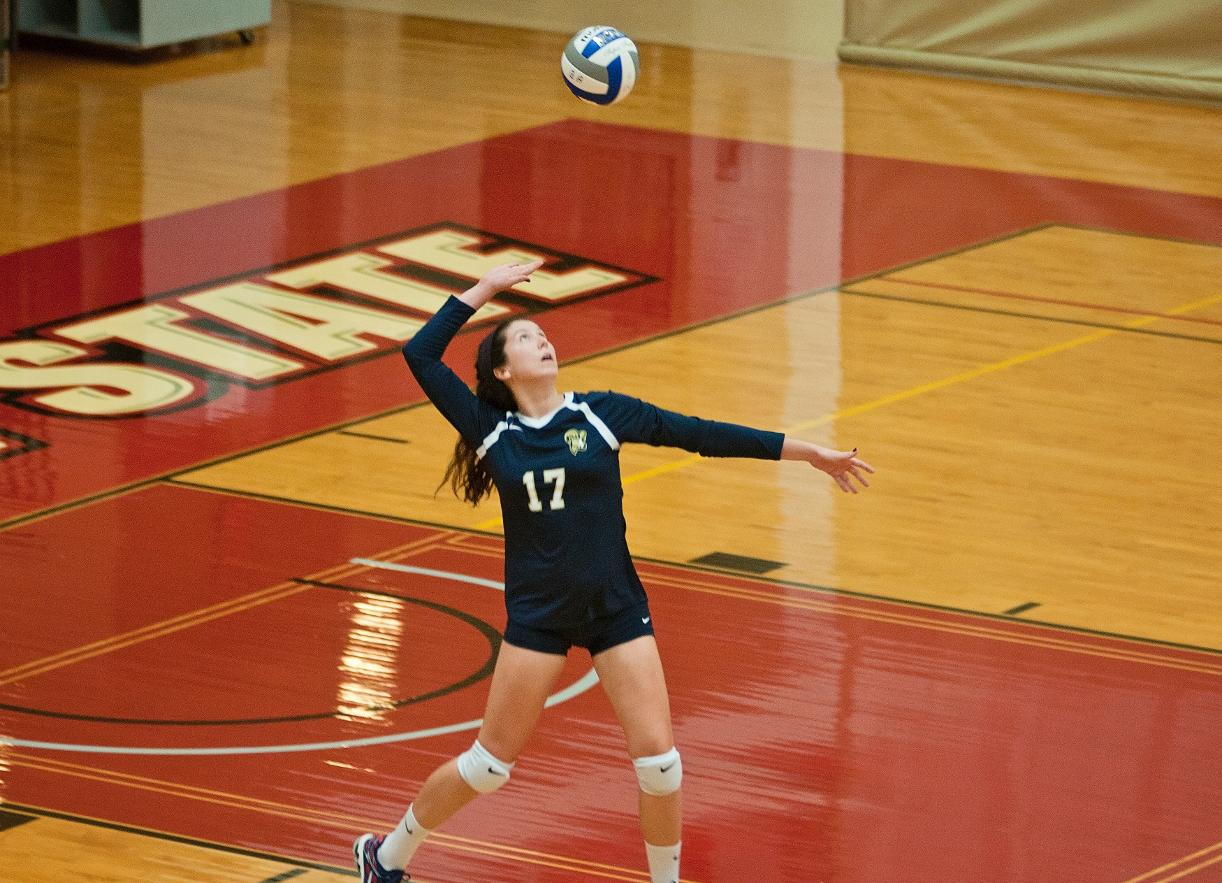 Volleyball Slides Past Mass. Maritime in Season Opener