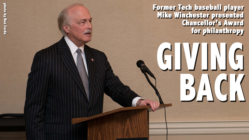 TTU alumnus Mike Winchester presented Chancellor's Award for philanthropy
