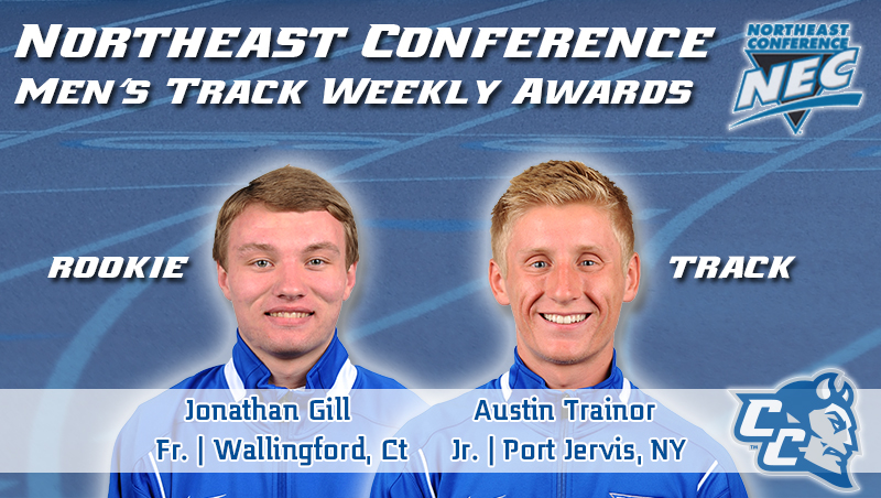 Trainor Tabbed Top-Track Athlete Once Again, Gill Named NEC Rookie of the Week