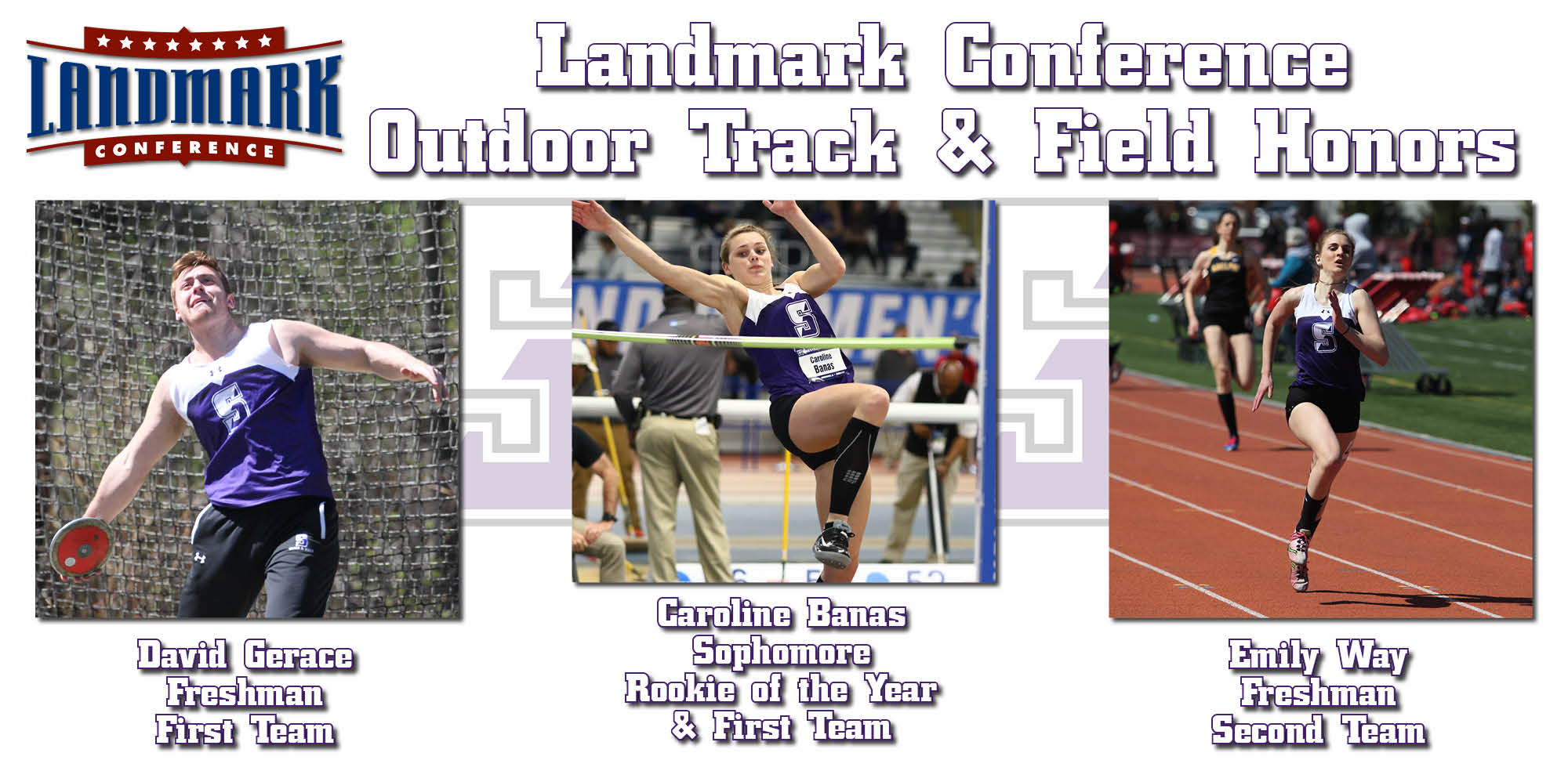 Banas, Gerace, Way Earn All-Landmark Honors In Outdoor Track & Field